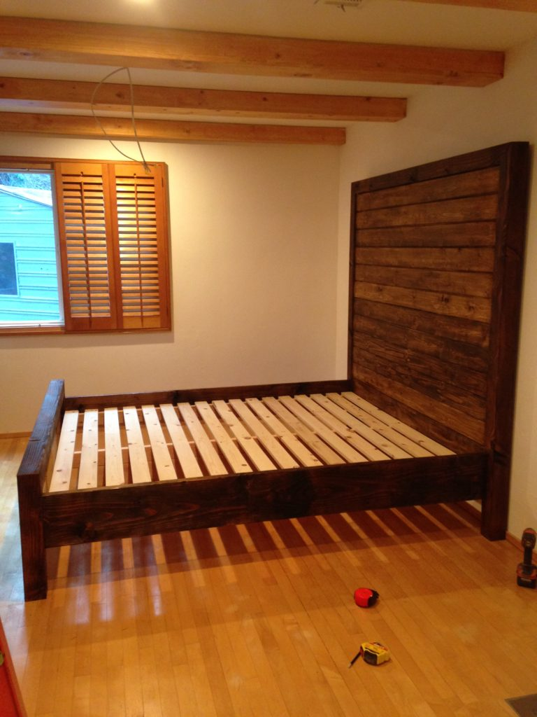 artist brandon roth builds custom bed frame furnishing