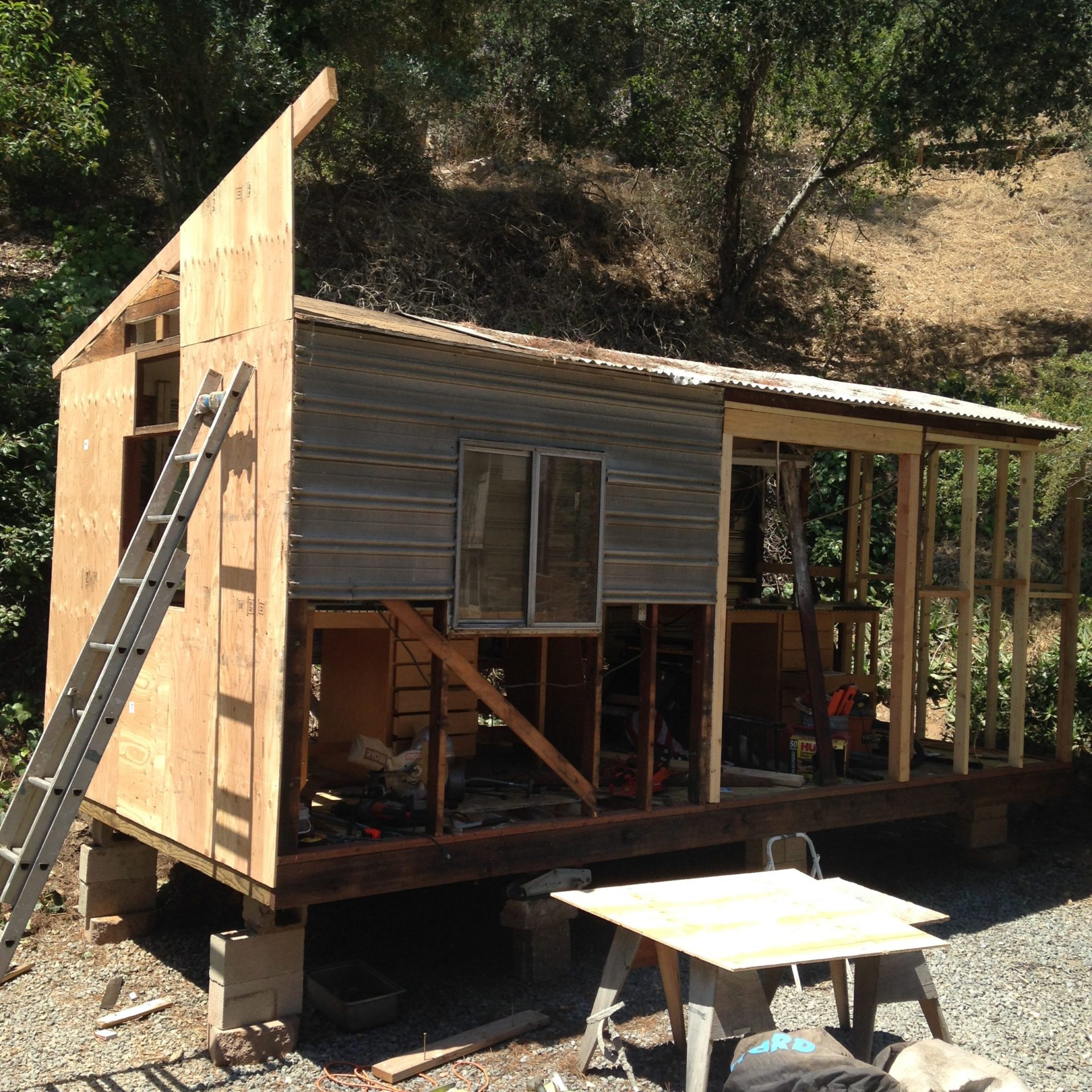 brnadon roth rebuilds an old shed into part of his workshop