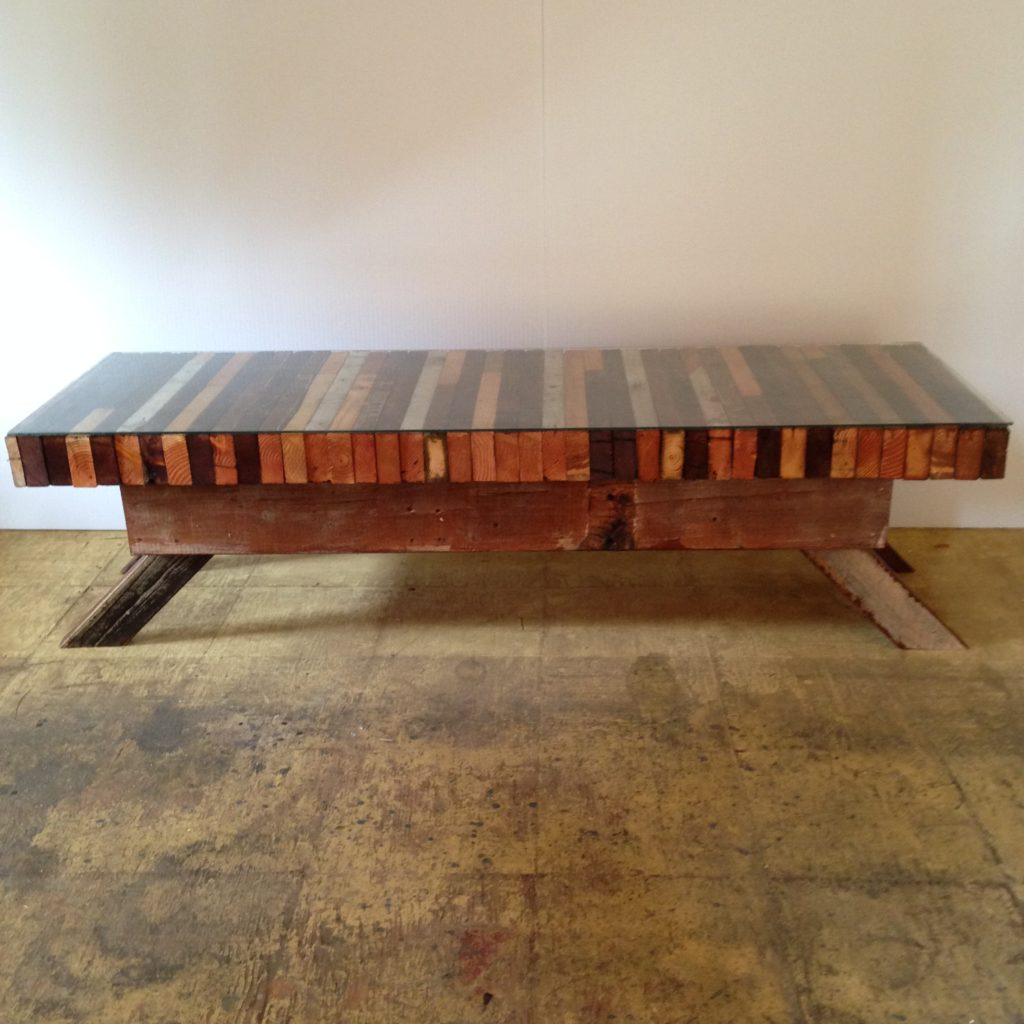 custom coffee table furniture built by artist brandon roth